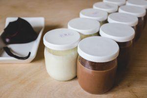 Crèmes chocolat et vanille maison
