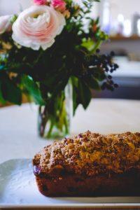 Gâteau fruits rouges et noisettes