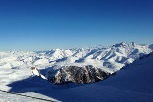 Les 2 Alpes, vue sur le Mont Blanc depuis le haut du Jandri