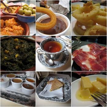 Plats dégustés en Andalousie