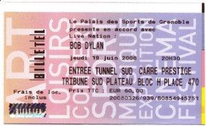 Ticket concert Bob Dylan