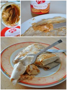 Crêpe speculoos coing