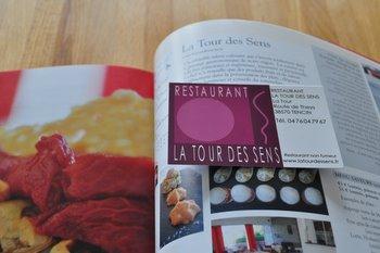 La tour des sens : la carte et l'entrée dans Grenoble Restaurant