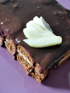 Gâteau chocolat-chataigne-poire