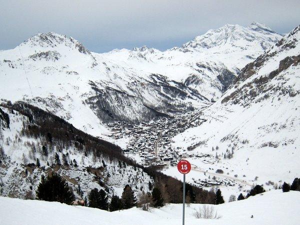 Val d'Isère depuis la piste Mattis