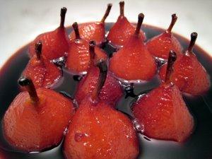 Mini-poires au vin