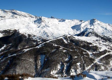 Le secteur de Peyniet, vu depuis la piste de la Casse