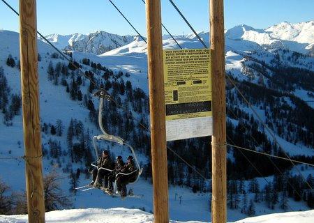 Barrière d'accès hors-piste