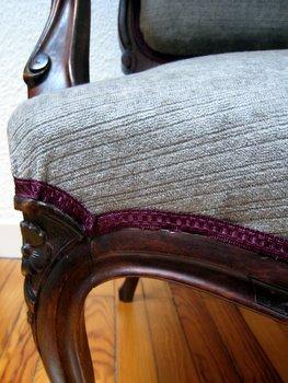 Détail du fauteuil terminé