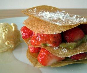 Croustillant fraise/rhubarbe