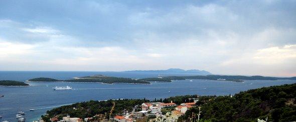 Les îles Pakleni otori près de Hvar