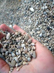 Petits cailloux de la plage