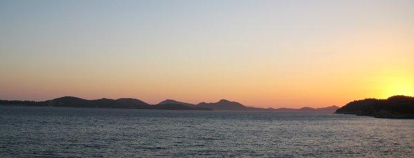 Coucher de soleil sur les îles élaphites