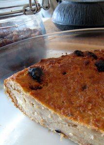 Pudding aux raisins secs