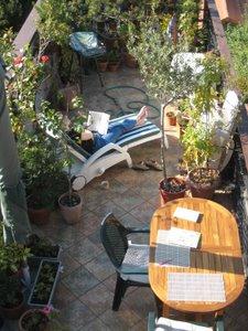 Sur la terrasse - octobre 2008