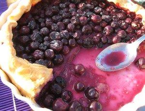 Tarte aux raisins et son jus