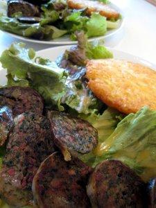 Salade à la caillette
