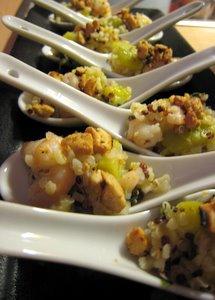 Quinoa aux crevettes et courgettes