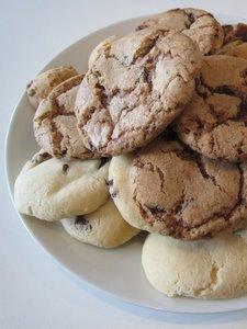 Cookies aux raisins et aux chocolats de Noël