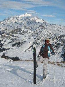 Le Mont Blanc depuis les pistes d'Arêches