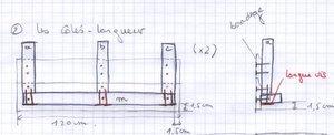 Jardinière - Plan longueur