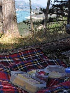 Pique-nique au lac du Monteynard