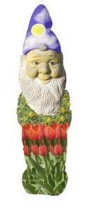 Nain de jardin ciel et tulipe