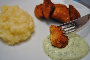 Nuggets de poulet sauce aux graines germées