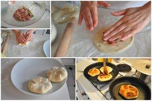 Pancakes fourrées, le façonnage en images