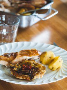 Poulet aux tartelettes de fenouil tatin