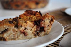 Pudding choco-pommes - clic pour la recette