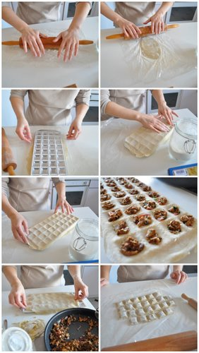 Fabrication des ravioli