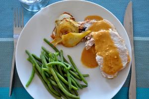 Rôti de porc au romarin et fenouil