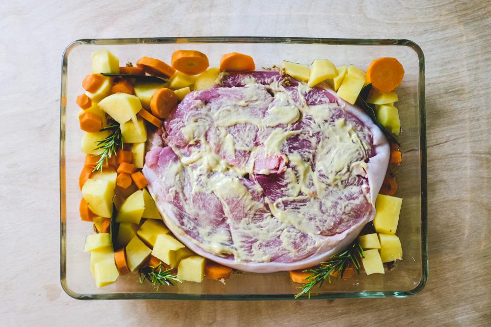 Rouelle de porc avant cuisson