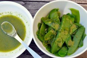 Salade de pois gourmands