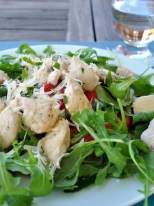 Salade de poulet et roquette - clic pour voir en plus grand