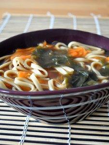 Soupe miso et udon