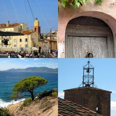 Photos de St Tropez et massif des Maures