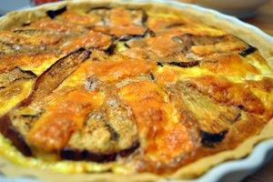 Tarte blette-aubergine