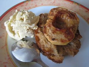 Tartines de pommes au four