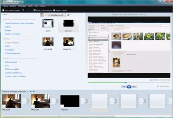 Copie d'écran Windows Movie Maker