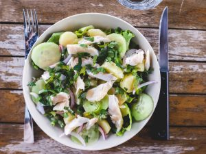 Salade de truite façon haddock