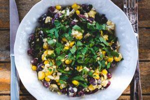 Salade haricots rouges, verts et maïs