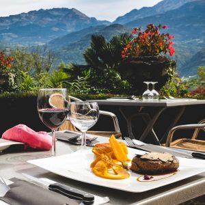 Restaurant La Veyrie en terrasse
