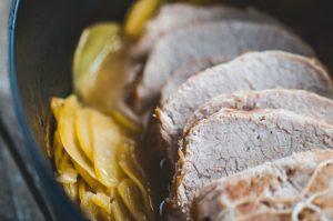 Rôti de porc boulangère